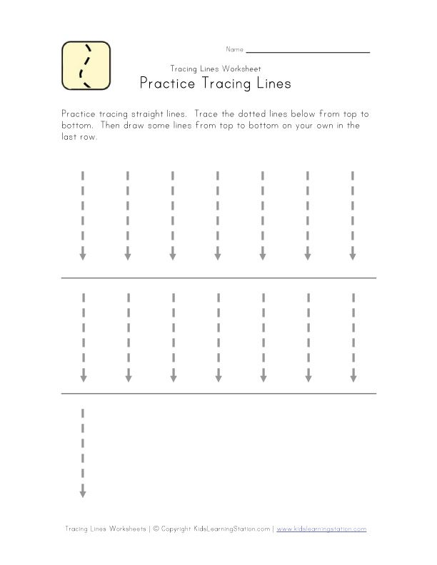 Drawing Straight Lines With A Ruler Worksheets : Tracing vertical lines education printable worksheet