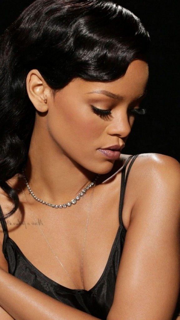 Lady Rihanna iPhone Wallpaper Blush for dark skin, Dark