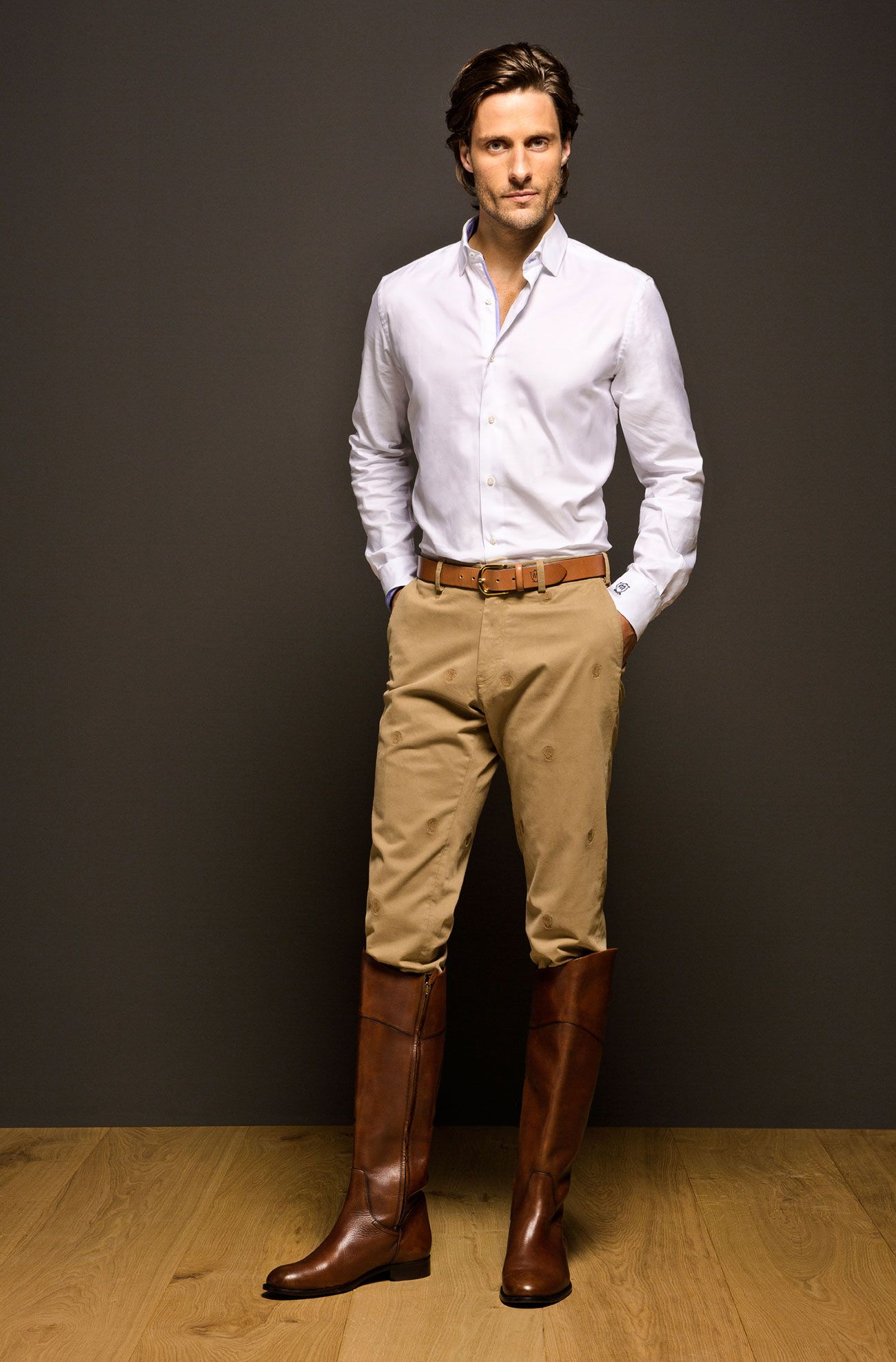 Mens stylish riding boots