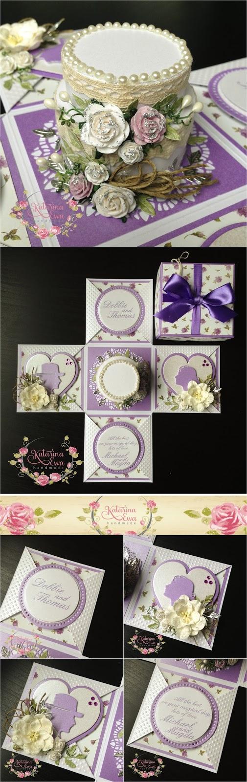 wedding exploding box cards anniversary pinterest