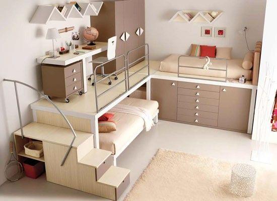 Juegos de cuarto para espacios reducidos   Decoración   Cool bunk ...