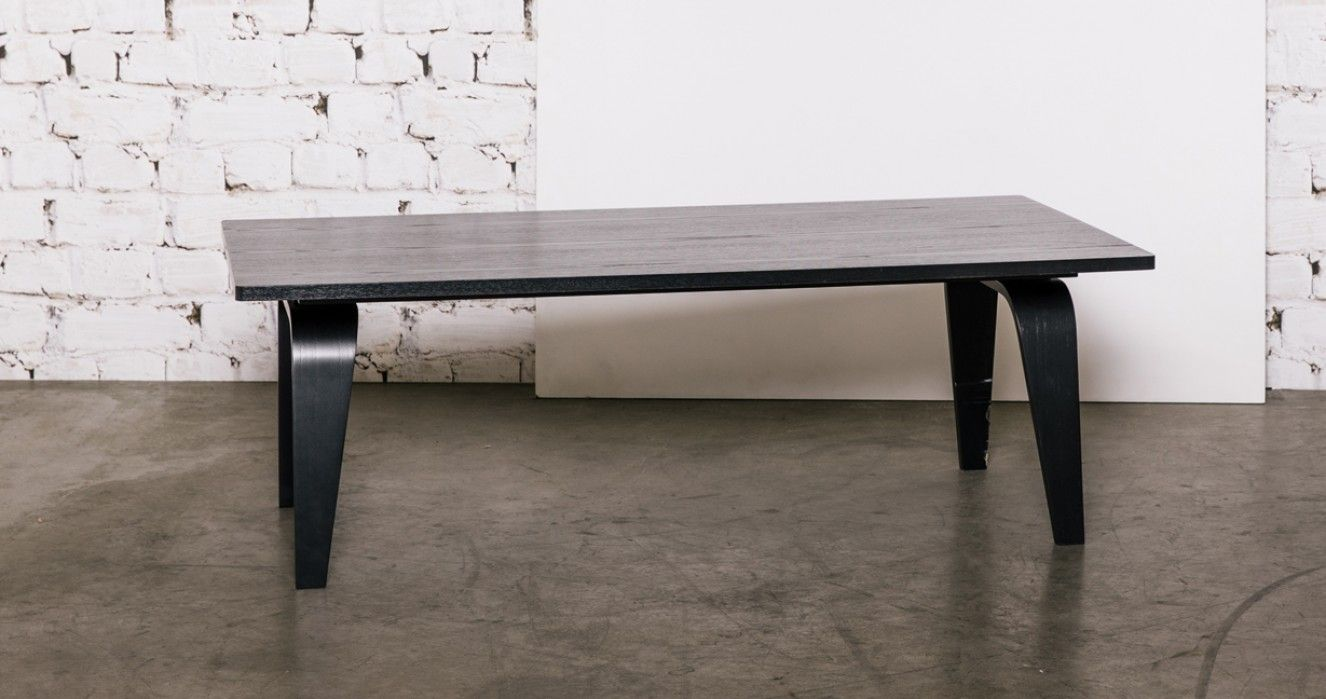 Eames Rectangular Coffee Table CTW In Ebony.