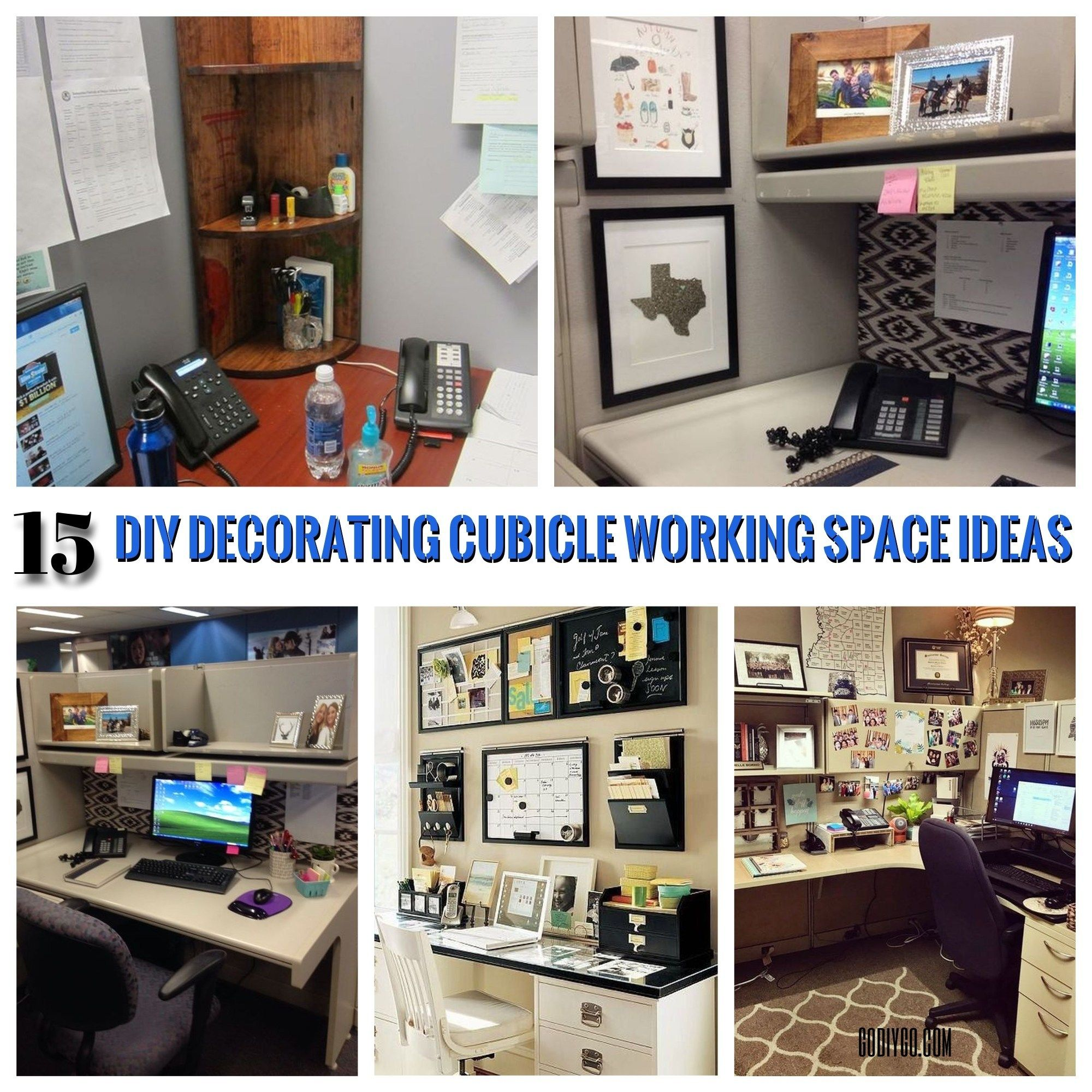 15 Diy Decorating Cubicle Working Space Ideas Godiygo Com Diy