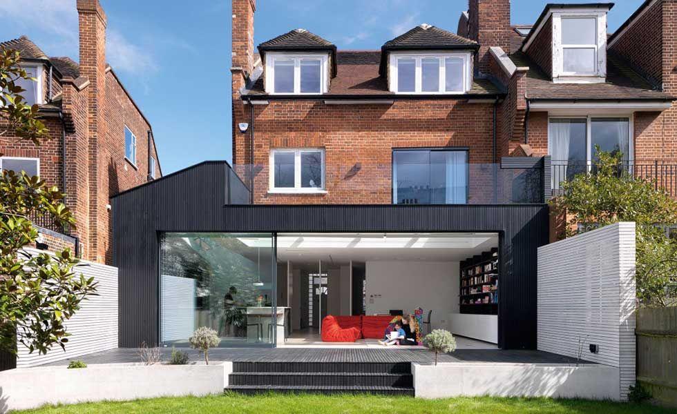 Image result for BLACK TIMBER BATTENS Contemporary extensions - avantage inconvenient maison ossature metallique