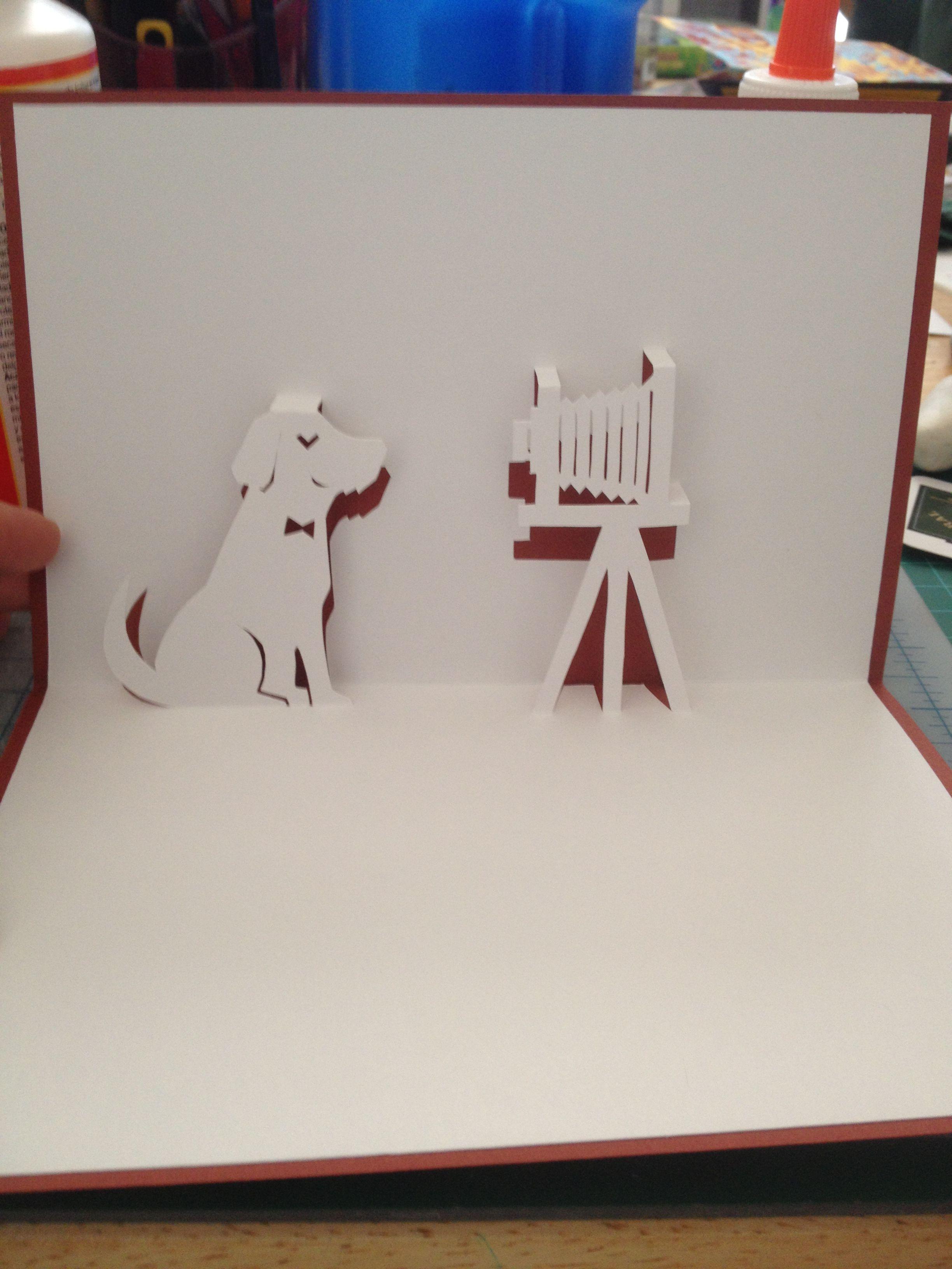 Dog Photo Shot Pop Up Card Template From Handmade Papercraft Club At Http Www5d Biglobe Ne Jp M Uet 90d Pop Up Card Templates Pop Up Cards Art Craft Cards