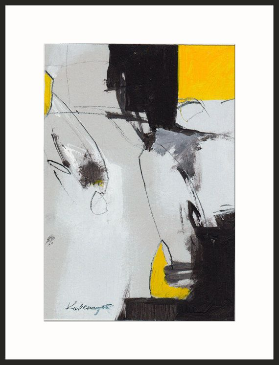 black abstract  yellow abstract  original abstract   linear abstract  minimalism  modern
