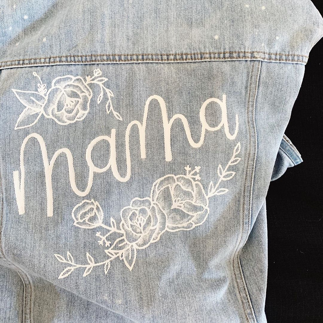 "Alyssa Vanderlin on Instagram: ""Happy Saturday friends!! 🤗 currently painting two kids jean jackets because I'm obsessed with creating custom jackets 🤩 + made this one for…"""