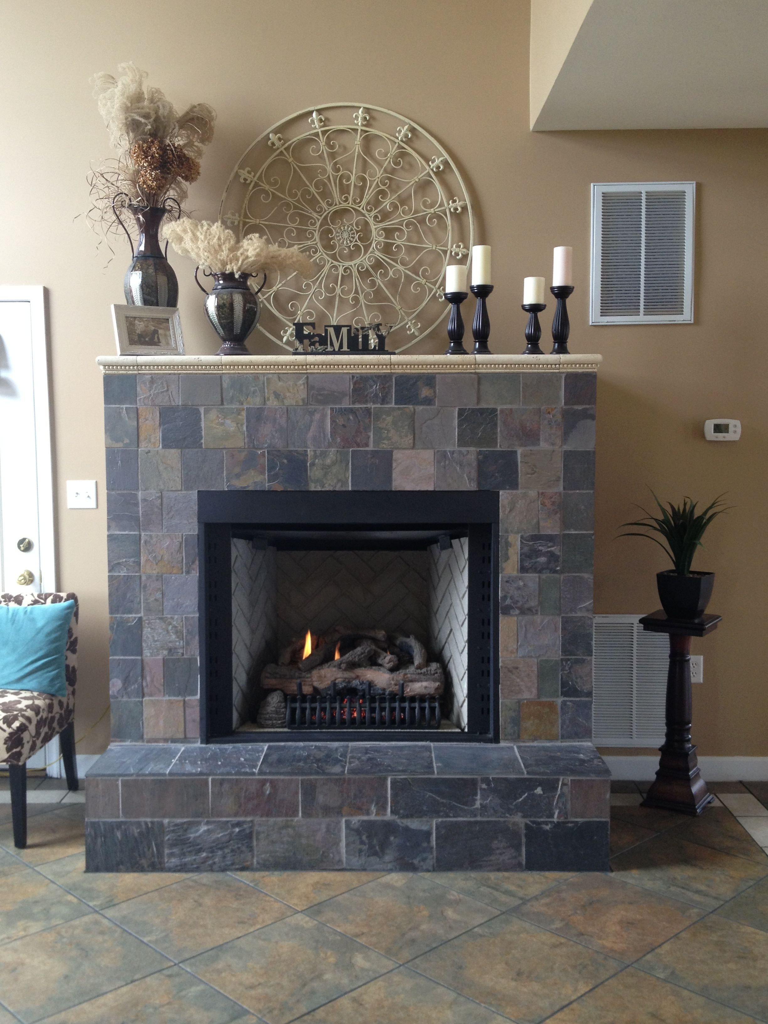Phenomenal Slate Fireplace 1 Build Your Wooded Box Around The Firebox Interior Design Ideas Clesiryabchikinfo