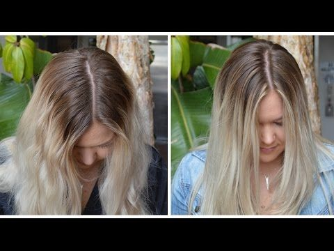 Sombre Root Smudge My Hair Color Youtube Roots Hair Blonde