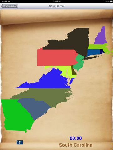 JigsawGeo US Original Colonies Is A Map Puzzle That Shows The - 13 original us states map