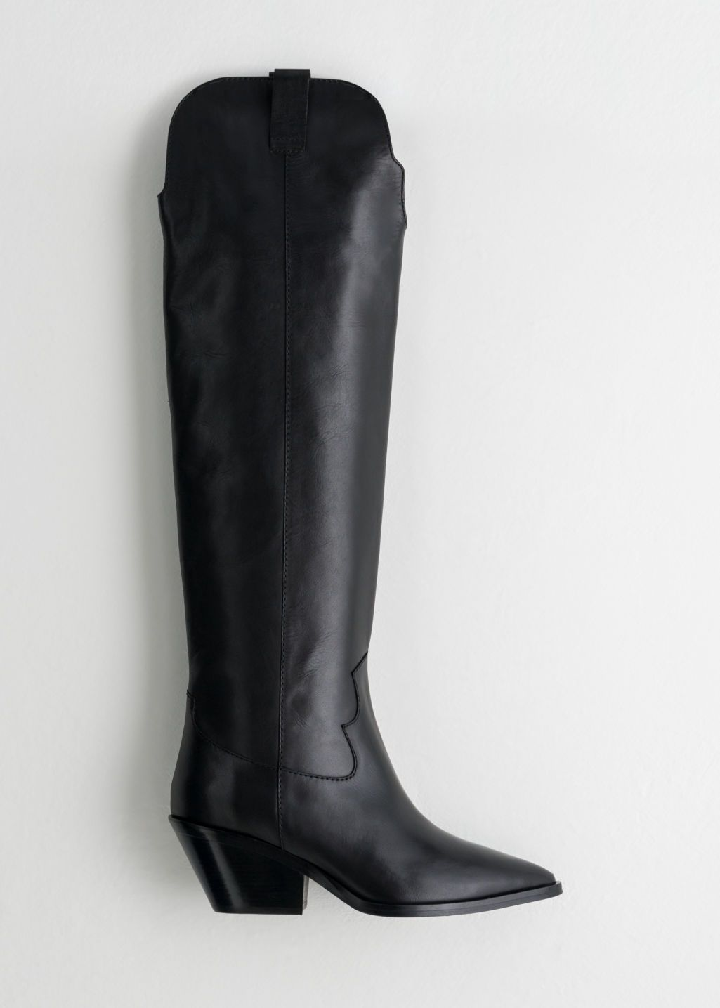 Boots, Knee high leather boots