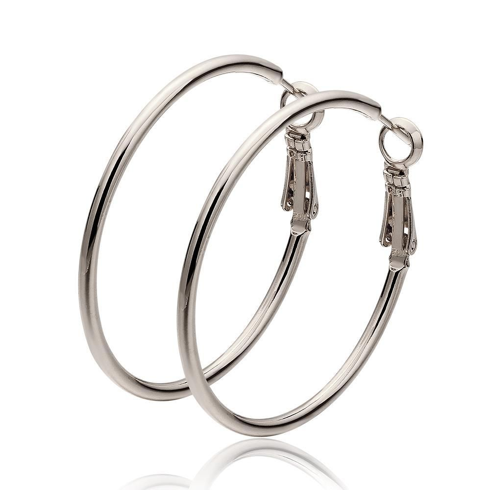 K gold thick lay hoop earrings made with swarovksi elements only