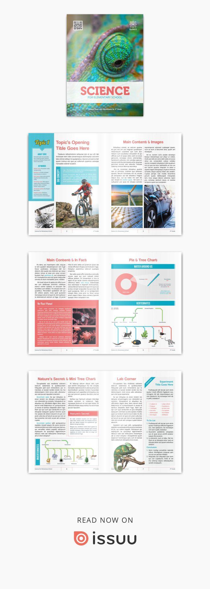 Science E Textbook Template 2018 Desain Dan Fotografi Pinterest