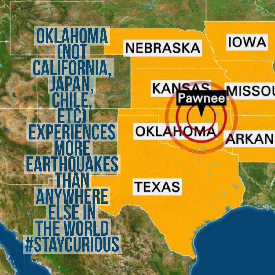 Oklahoma not california japan chile etc experiences more oklahoma not california japan chile etc experiences more earthquakes than anywhere else in the world staycurious facts fact gumiabroncs Images