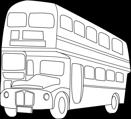 Double Decker Bus Line Art Free Clip Art Clipart Black And White Clip Art London Bus