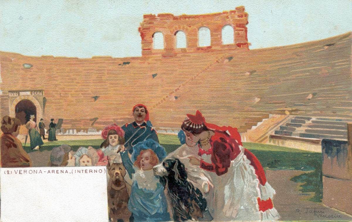 Verona - Interno Arena - R. Tafuri - 1900