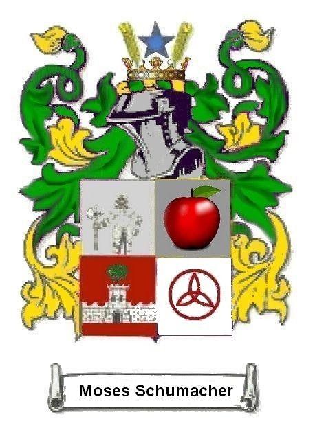Description Emblem Banneret Sir Moses Schumacher Blue Star Symbol