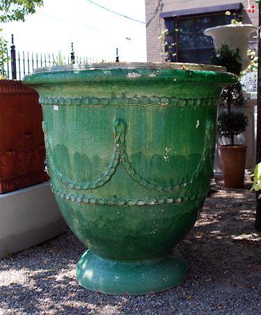 French Saint Jean De Fos Glazed Terracotta Pot Online
