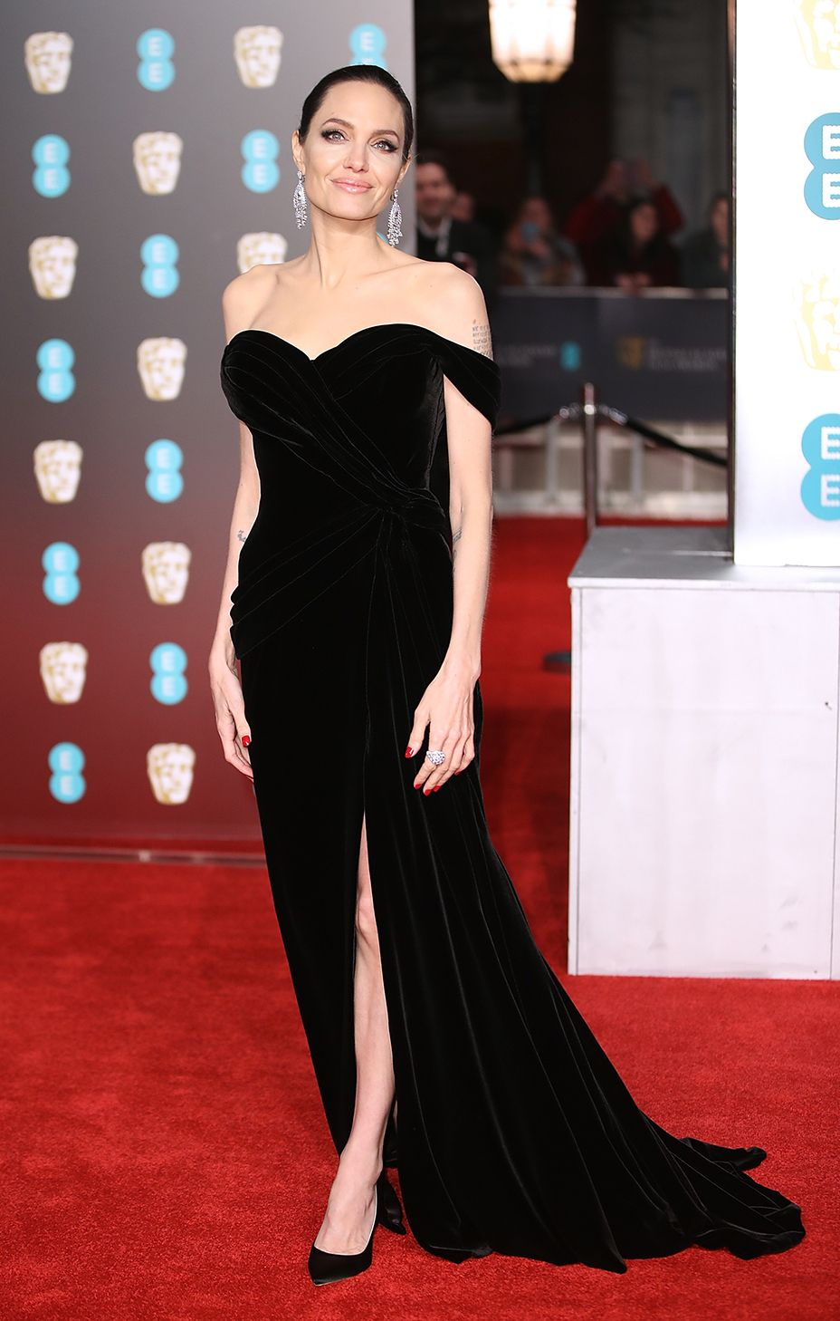 Top 12 Best Dressed At The 2018 Baftas Nice Dresses Dresses Angelina Jolie Dress