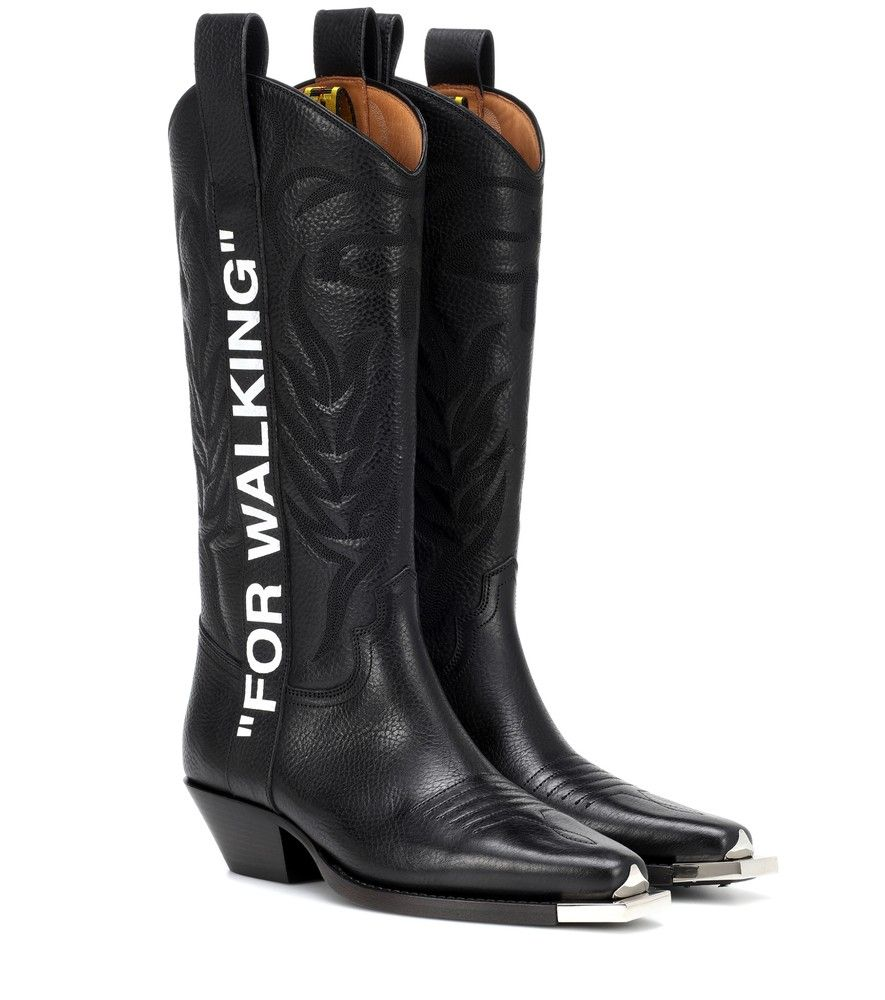 Off-White - For Walking cowboy boots