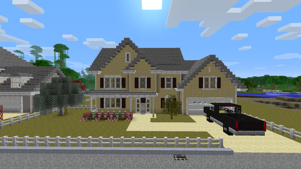 Awesome Realistic Minecraft House Minecraft Pinterest - Minecraft pferde spielen
