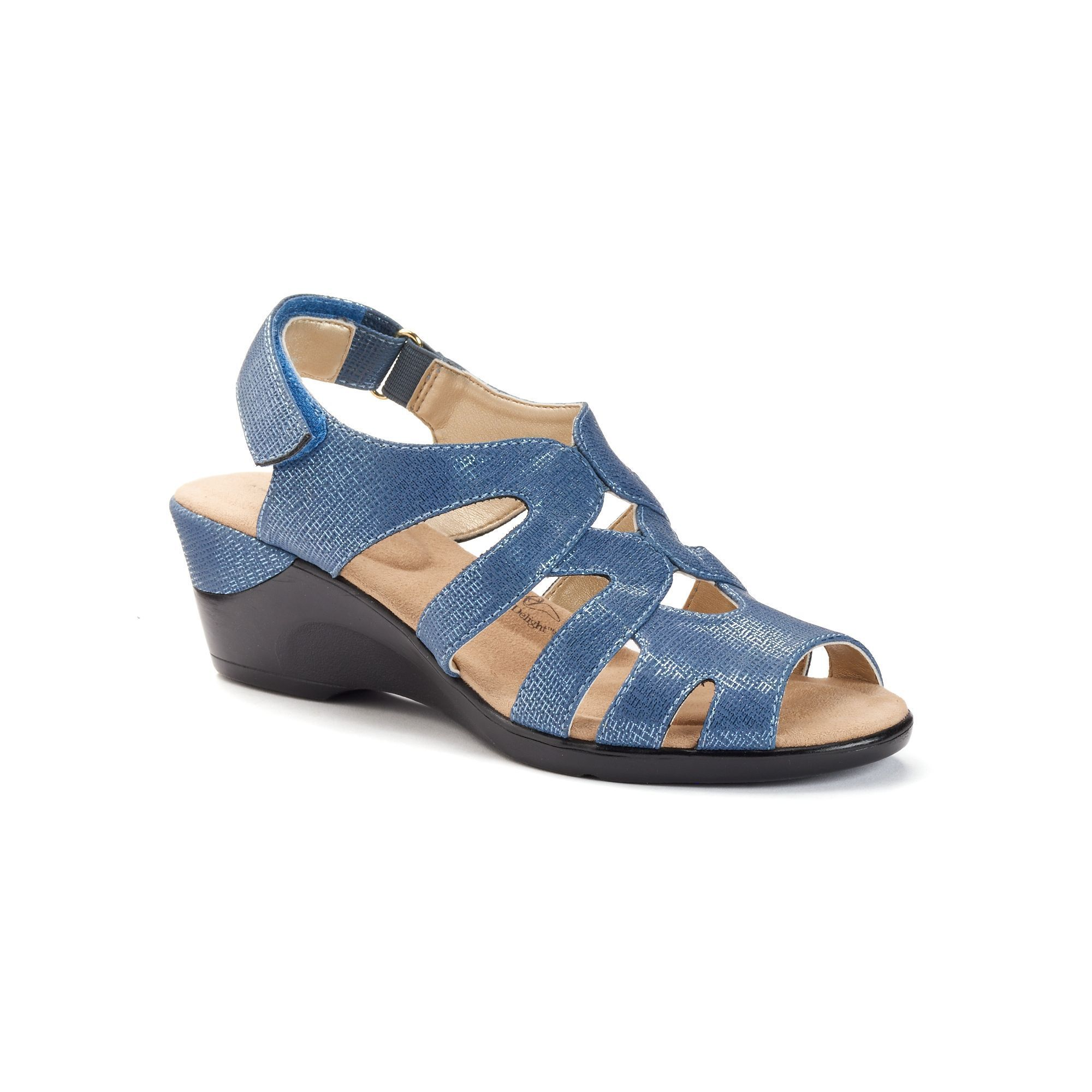 Womens sandals in size 12 - Soft Style By Hush Puppies Patsie Women S Wedge Sandals Size Medium 12 Blue