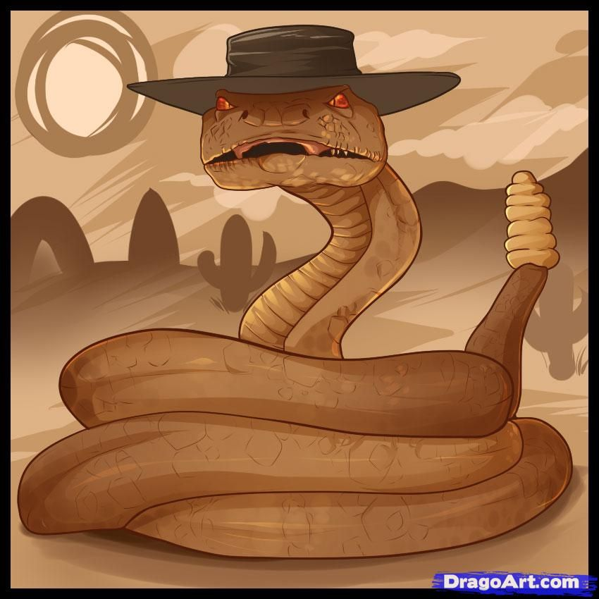 b582aae7d57 How to Draw Rattlesnake Jake, Step by Step, Movies, Pop Culture ...