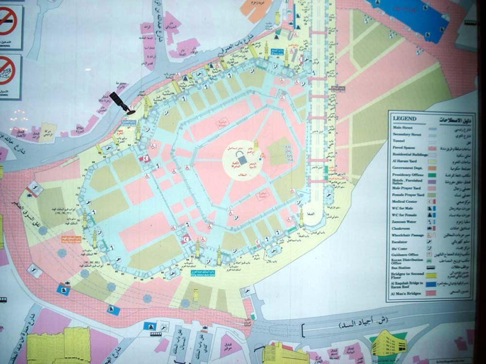خريطة خارطة الحرم المكي المسجد الحرام بالتفصيل مفصلة مكبرة كاملة Map Map Screenshot Art