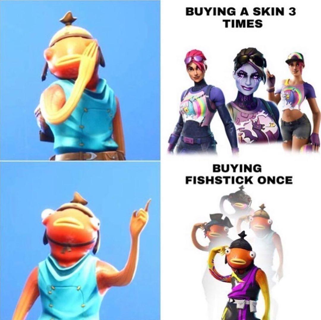 Comment Down Bellow If You Own The Fishstick Skin Fortnitem3m3z More Fortnite Fortnitememes Memez Like Follow Repost Share Fortnite Workout Plan Memes