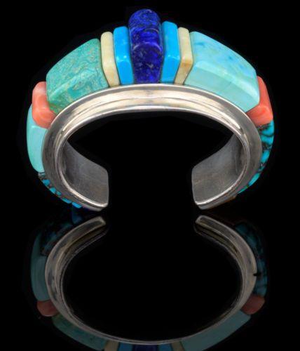 Darryl-Edwards-Turquoise-Lapis-etc-Bracelet-Size-6-3-4