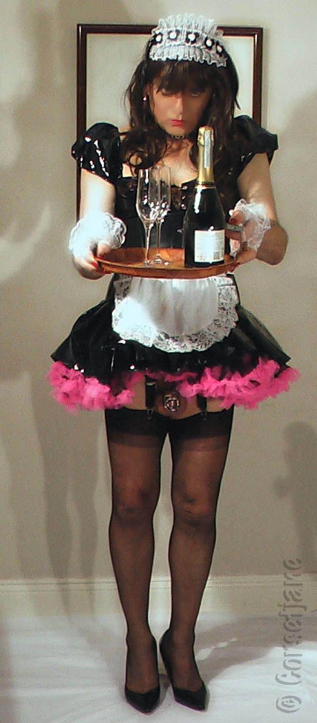 Sissy maid serving