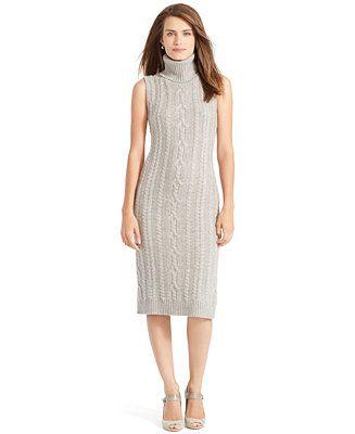 b46d9873a3d Lauren Ralph Lauren Wool-Cashmere Sweater Dress - Knit Picks - Women -  Macy s