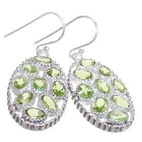 Royal Peridot Sterling Silver Earrings 73 27 J