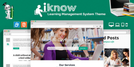 Themeforest Iknow Learning Management System Template Full