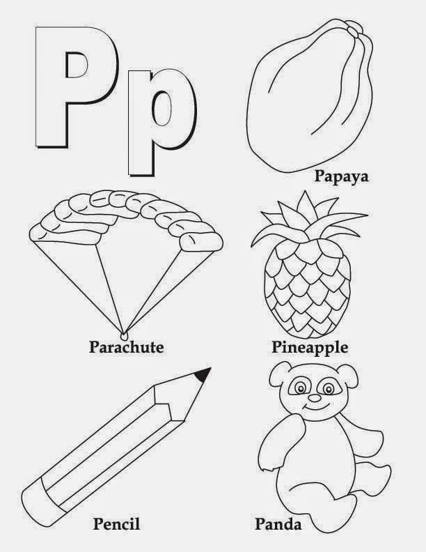 alphabet letter p worksheet  alphabet coloring pages