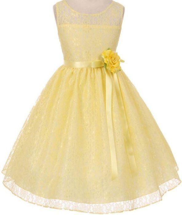 3d5989e0c Big Girls  Simple Lace Oval Shape Open Back Flowers Girls Dresses ...
