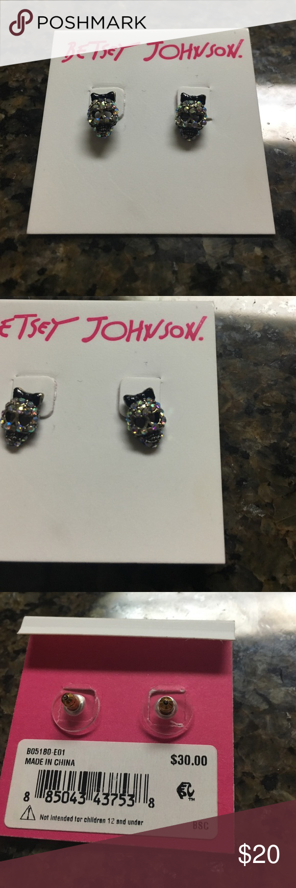 NWT Betsey Johnson Stud Earrings So cute! Never worn Betsey Johnson Jewelry Earrings