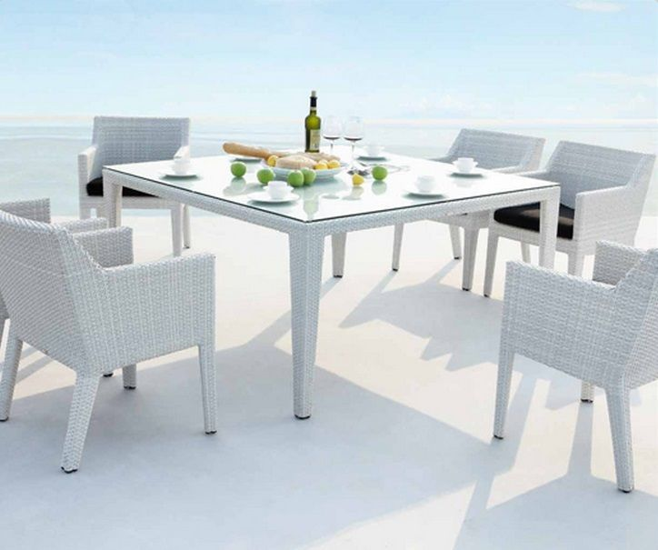 Suni Dining Set Contemporary Outdoor Dining Chairs Rattan Dining Chairs Outdoor Dining Chairs
