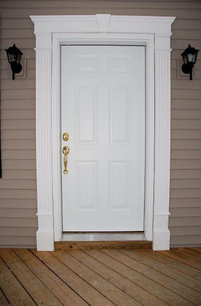 Pin By Debe Dobbins On Front Entrance Window Trim Exterior Exterior Door Trim Door Frame Molding