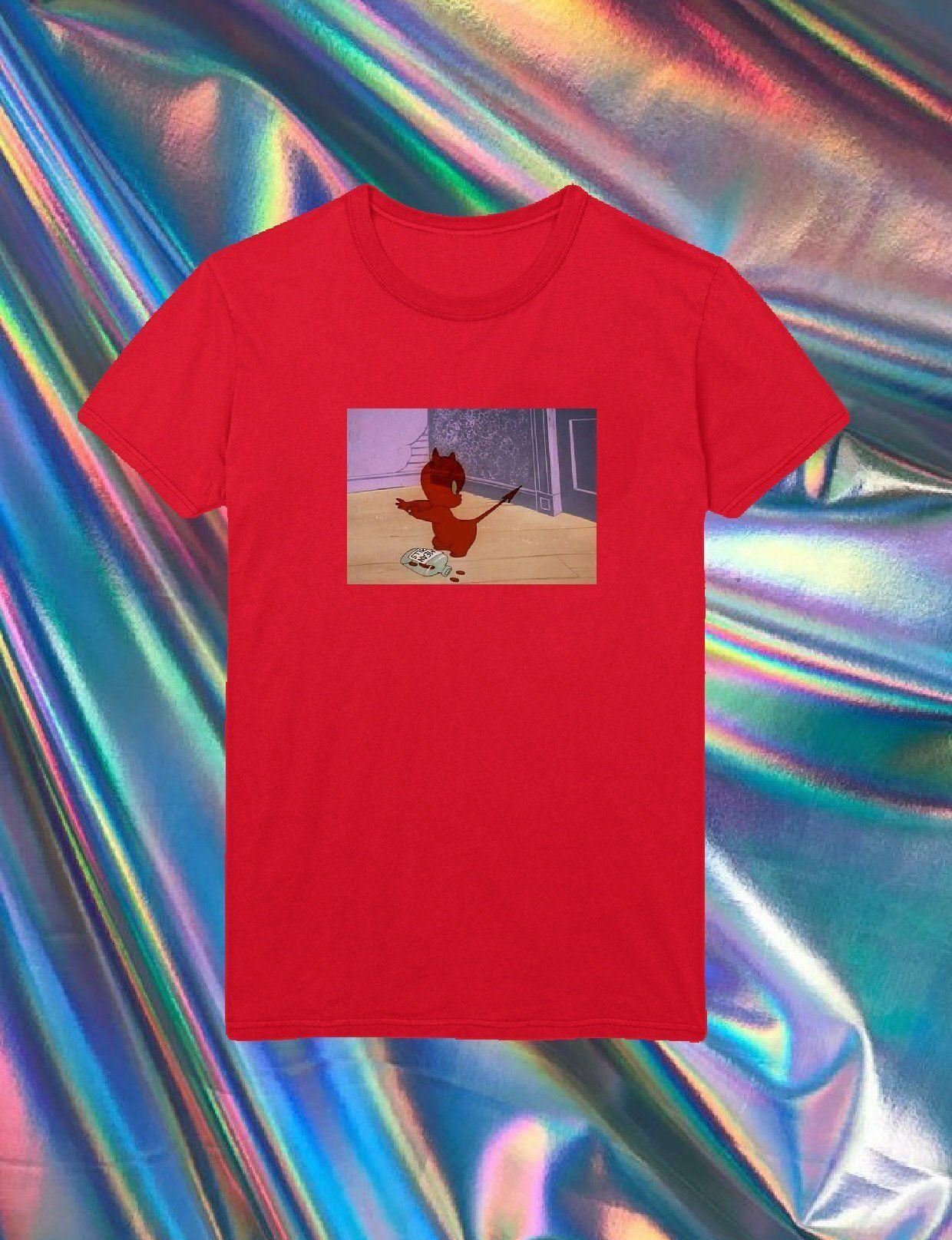 025fe25c Adult Unisex Baby Devil Cartoon, Tumblr Shirt, Aesthetic Shirt ...