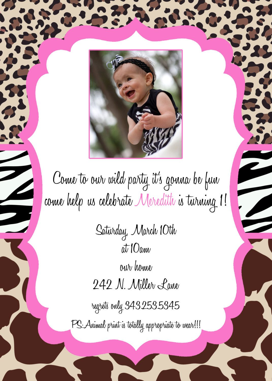 Birthday Invitation Girl Birthday Invitation Birthday Invite – Custom First Birthday Invitations