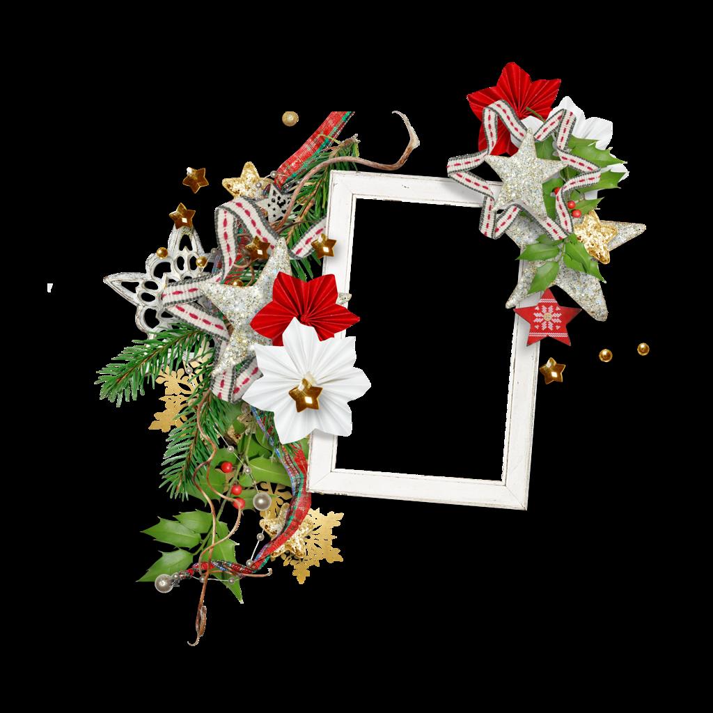 Christmas ornament frames - Christmas Cluster Frame