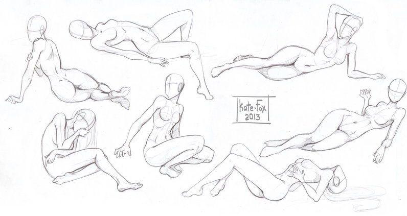 Сексуальные позы рисунки