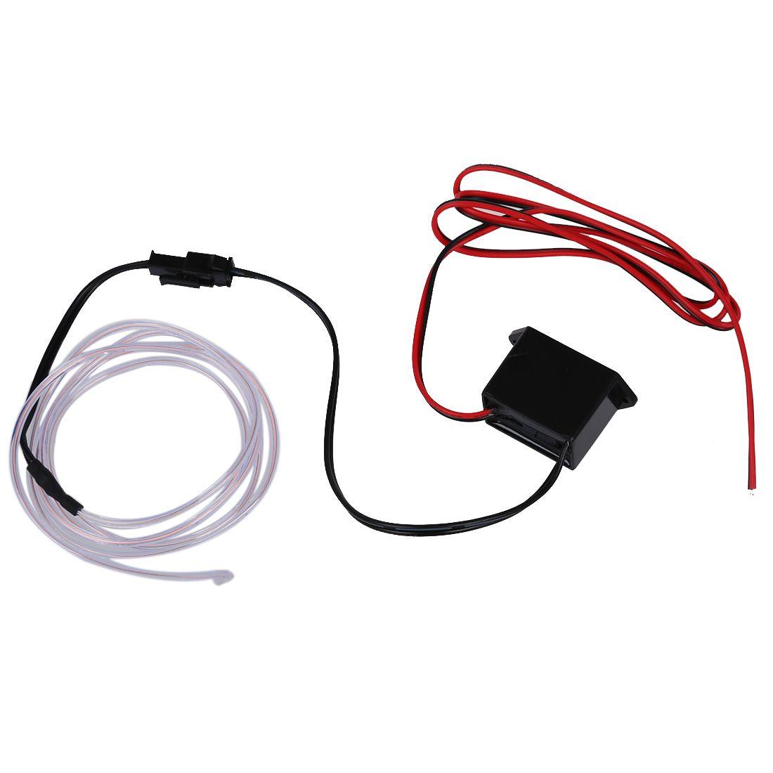 LED Flexible EL Wire Neon Glow Tube Lamp Light 12V, 1M White | Car ...