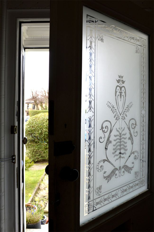 Etched Glass Victorian Reproduction Scottish Stained Glass