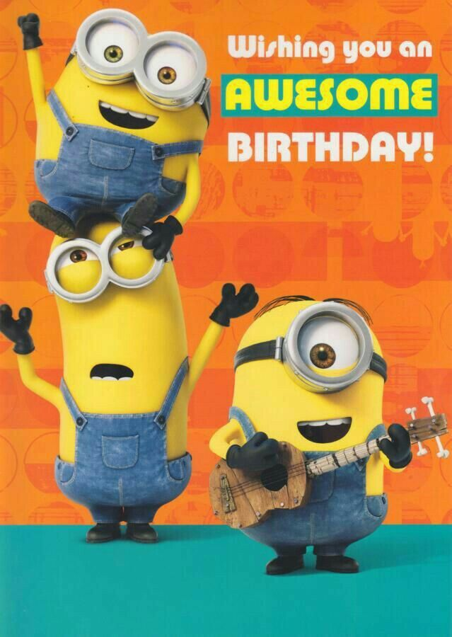 Minions Birthday Card With Images Minion Birthday Card