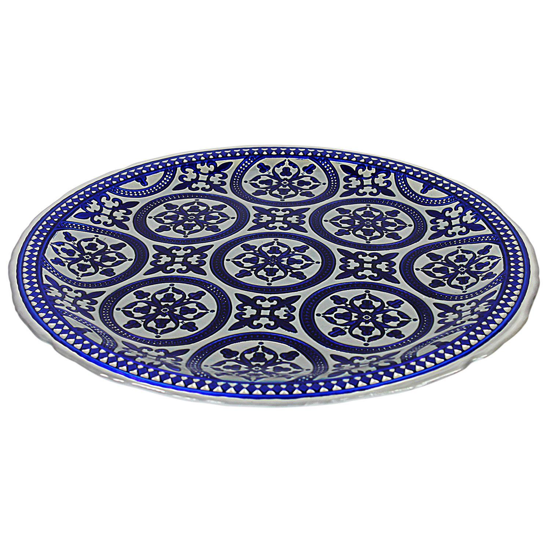 Marrakesh Fat 33cm, Blå/Grå - Anders Lindblom - Nybro Crystal - RoyalDesign.no