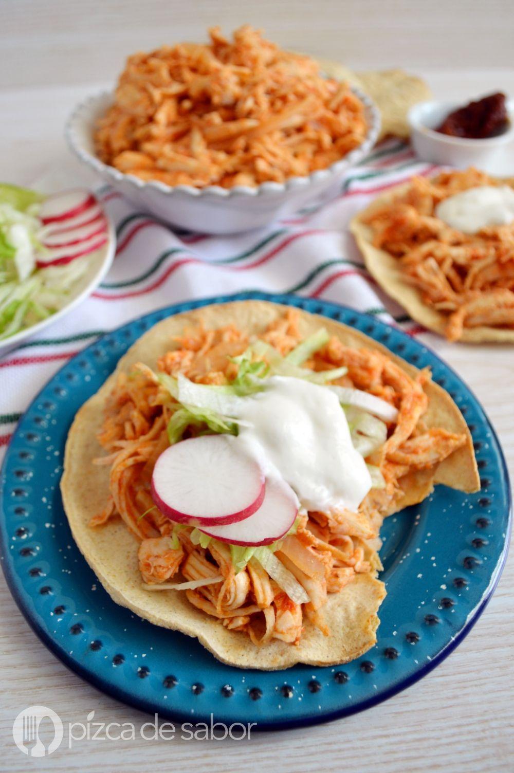 Tinga de pollo  Receta  Mexican Recepie  Tinga de pollo