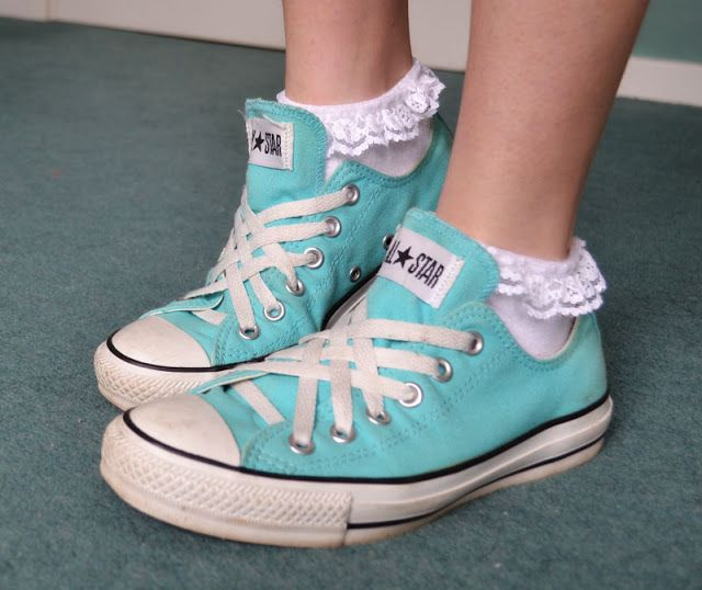 white frilly trainer socks