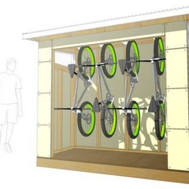 4 x 8 Pinyon bike storage storage midcentury spaces Studio